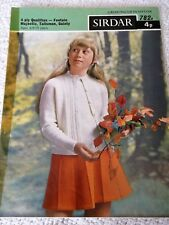 ORIGINAL VINTAGE 1968 SIRDAR KNITTING PATTERN No.782B RAGLAN TWIN SET in 3 sizes