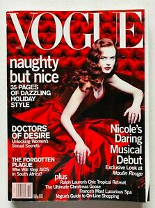 Vogue USA December 2000 Magazine Nicole Kidman Moulin Rouge Sofia Coppola