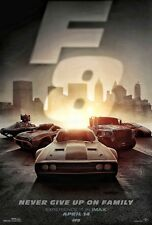 FATE AND THE FURIOUS 2017 IMAX Original DS 2 Sided 4x6' US Bus Shelter Poster