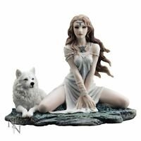 Storm Maiden Lady and Wolf Figurine 16.5cm by Nemesis Now C1993F6