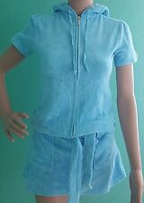 Juicy Couture size P XP terry set short sleeve hoodie and skirt
