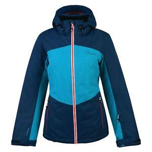 Female ski jacket and winter coat. Dare2B. Beckoned II. Blue. Size 16