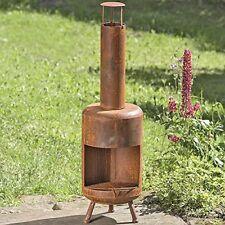Feuerofen /Terassenofen/ Feuerkorb Bond D30 H105cm rost Eisen