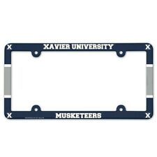 """XAVIER MUSKETEERS 6""""x12"""" LICENSE PLATE FRAME BRAND NEW WINCRAFT"""