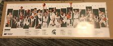 2018-19 Michigan State Spartans mens basketball schedule poster IZZO FINAL FOUR
