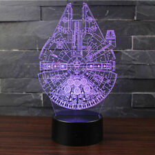 Star Wars Millennium Falcon 3D Optical Illusion Colour Changing LED Lamp Brand