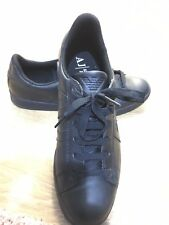 Armani Jeans Black Low Leather Trainers UK 7|Sneakers Shoes Bag Coat T-shirt Top