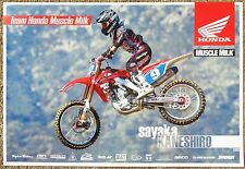 SAYAKA KANESHIRO 2012 POSTER Supercross Motocross 2-Sided Honda Muscle Milk