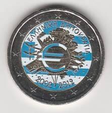 -- 2012AA  2 EURO C0ULEUR GRECE -- 10 ANS DE L'EURO