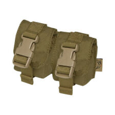FLYYE ARMY TACTICAL DOUBLE DUMMY GRENADE POUCH MOLLE WEBBING COYOTE BROWN