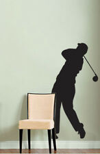 5ft Tall Golf Swing Wall Decal Sticker Golfer 60in tall X 30in Wide #219A
