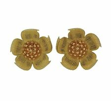 Tiffany & Co Classic Wild Rose 18k Gold Earrings