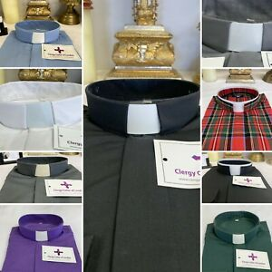 Male Priests Clergy Clerical Shirts - Luxury Cotton Mix - Choice of Colours