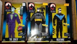 The New Batman Adventures Nightwing - Joker - Batman 12 In Figures NIB Lot of 3