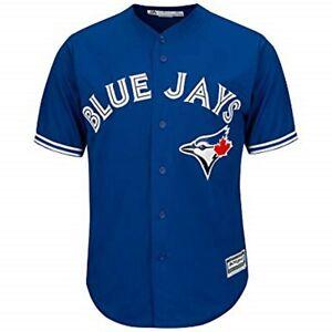 Toronto Blue Jays Blue Men's Cool Base Jersey Majestic Coolbase MLB Official