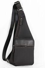FRANCINEL sac monobretelle nylon garni cuir réf 653108 (noir ou marron)