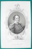 WINFIELD SCOTT Mexican War General - 1856 Portrait Print Ornamental Border