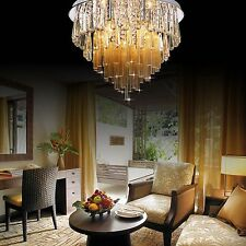77381347 50CM Luxury Round Living Dining Room Hall Ceiling Light Crystal Glass