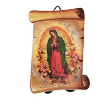 "3"" Inch Virgen de la Guadalupe Religious wall and table plaque  plate virgin"