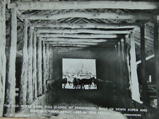 1880 Frenchglen Horse Barn Photo Postcard Oregon Landmark Old Black White Rppc