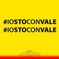 2 Adesivi #IOSTOCONVALE VR46 the doctor Valentino Rossi MotoGP cm 12 stickers
