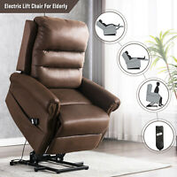 Electric Power Lift Chair Recliner for Elderly Overstuffed Back Sofa Help Stand
