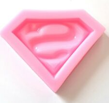 SUPERMAN SYMBOL MOULD-ICING MOLD-SUPERHERO-FONDANT/SUGAR/RESIN SUPERHERO LOGO