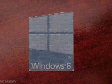 Windows 8 metal/chrome effect sticker 2.3cm x 1.8cm/pegatina ordenador/aufkleber