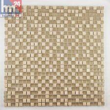 Bad Glasmosaik Miranda Naturstein Mosaikfliesen sandgelb 29,5x29,5x0,6cm Pool