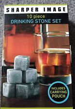 Sharper Image 10 piece Drinking Stone Set Includes Carrying Pouch