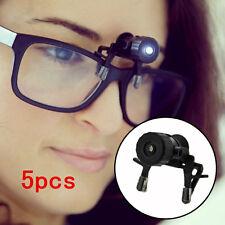 5pcs Eye Glasses Reading Glasses Clip LED Safety Light Mini Flashlight
