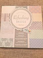 30 Sheets Refreshing Basics - Scrapbooking Cardmaking Paper Pad Art Craft
