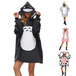 Unisex Adult Totoro Unicorn Cows Oversize Giant Hoodie Blanket Hooded Sweatshirt