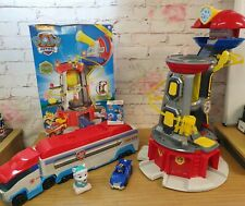 PAW Patrol Mighty Lookout Tower,Patroller truck,light/torch joblot bundle