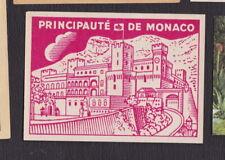 Ancienne  étiquettes  allumettes France BN122972 Principauté de Monaco type 102