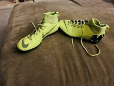 Nike Mercurial Astro Turf Football Boots With Attached Sock Size 5 Lime