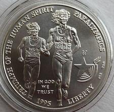 1995 Olympics Paralympics Blind Runner BU Silver Dollar Commem US Mint Coin ONLY