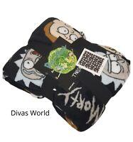 Rick & Morty Throw Adult Swim Soft Fleece Blanket Xmas Gift Primark 120cm X150cm