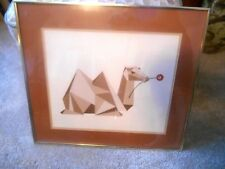 """Mame Lambeth signed """"CAMELLIA"""" MCM Watercolor Gouache Matted Framed Under Glass"""