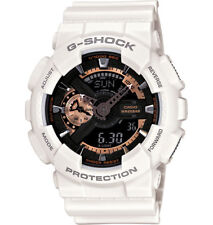 Casio G-Shock Analogue/Digital Mens White Rose Gold Watch GA-110RG-7A GA-110RG-7
