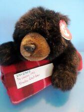 Ty Classic 1992 Shadow Black Bear Bean Bag Plush (310-2905)