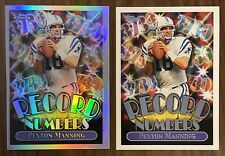 1999 PEYTON MANNING Record Numbers Insert Lot RARE Chrome Refractor RN9 Colts