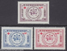 CAMBODIA - 1959 Red Cross Fund (3v) - UM / MNH