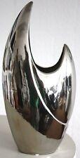 GILDE Skulptur Vase silber 33493 platin Dekoration Figur Sculpture Deko Keramik