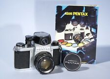 Pentax S1a 35mm SLR Camera 55mm f/2 Lens + Meter * Fully Working & New Seals