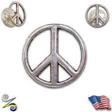 Peace Love Symbol Sign Hippie Bohemian Anti War Rainbow Pewter Coat Hat Tie Pin