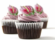 ✿ 24 Edible Rice Paper Cup Cake Toppings, Cake decs - Flamingo Lily ✿