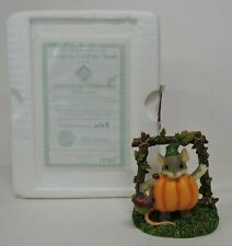 CHARMING TAILS PUMPKIN, I AM THE TREAT! FIGURINE-BEWITCHING HALLOWEEN