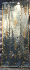 Blue Embroidered Versaille ready made drape- Curtain
