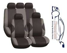 11PCE COVENTRY GREY UNIVERSAL FULL SET OF SEAT COVERS FOR Peugeot 107 206 207 30